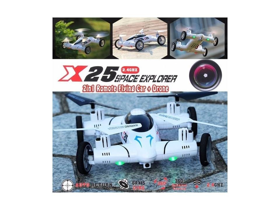 X25 2.4G 6-AXIS 8CH SPEED RC QUADCOPTER DRONE CAR UFO HD-CAMERA 2MP