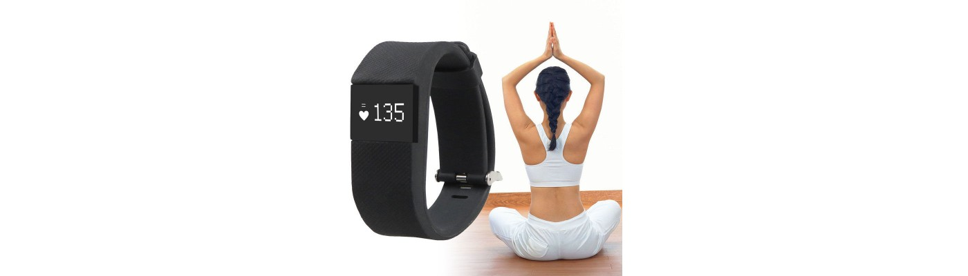 SMART BRACELELET SMARTWATCH BT4.0 HEART RATE SLEEP MONITOR PEDMETER BLACK